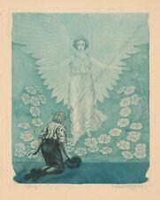 """Max Julius Wunderlich (1878-1966) """"Worship"""", Etching, 1920s"""
