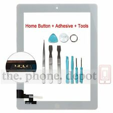 White Replacement For IPAD 2 Touch Screen Digitizer Front Glass With Home Button