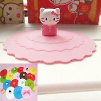 Cartoon silicone airtight cup cover sealed coffee mug lid cap Anti dust Gifts MT