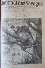 JOURNAL DES VOYAGES N° 887 de 1894 MAYNE REID L ÎLE DU DIABLE  AKKAS ABYSSINNIEN