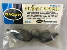 Vintage Dacor Olympic Swim Goggles Model AG Brand New NOS