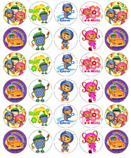 30x Equipo Umizoomi Magdalena Toppers Comestible Oblea Papel Hada Cake Toppers