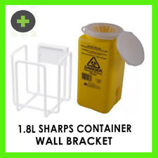 Sharps Container  1.8l and Wall Bracket