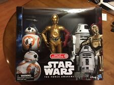 "STAR WARS THE FORCE AWAKENS 12"" DROID 3 PACK C-3PO,BB-8,RO-4LO EXCLUSIVE FIGURE"