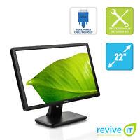 """Dell E2213 22"""" 1680x1050 16:10 Widescreen LED Backlit Monitor VGA DVI Grade B"""