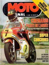 MOTO JOURNAL  301 HONDA CB 750 F1 kitée 820 SPEED Alain PRIEUR Barry SHEENE 1977
