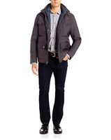 Kenneth Cole New York Men's Oxford 2-in-1 Convertible Slate Jacket XL