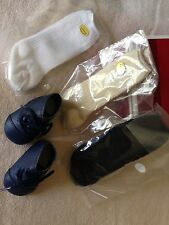 American Girl Addy's SHOES & 3 PAIR of SOCKS  BOOTS new in box  Last Set I Have!
