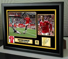 More details for new cristiano ronaldo manchester united 2021 framed a4 canvas tribute signed