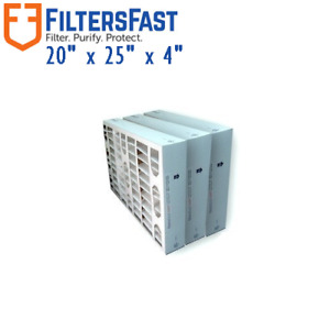 Filters Fast 4 Inch MERV 8 Air Filters 3 Pack FF4M8 20x25x4
