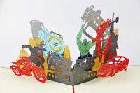 AVENGERS MARVEL 3D POP UP GREETING CARD BIRTHDAY INVITATION THOR IRON MAN