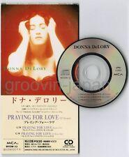 "DONNA DE LORY Praying For Love JAPAN 3"" CD SINGLE MVDM-33 UNSNAPPED Madonna"