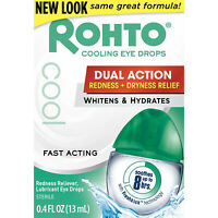 Rohto Lubricant Eye Drops Redness Relief Cooling 0.4Oz Each