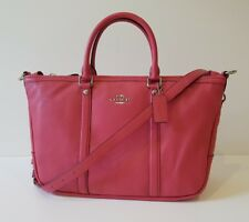 Genuine COACH Grab Handbag 'Central Satchel' Rare Strawberry Pink Leather BNWT