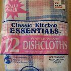 """Kitchen Dishcloths Classic 12 Kitchen Essentials 12""""x12"""" New Old Stock Vintage"""
