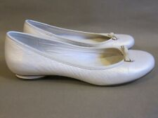 Clarks Cream/Gold Pearl Leather Ballet Pumps Flats UK 7.5
