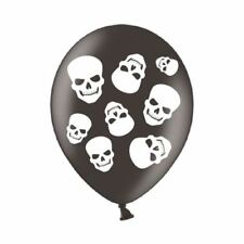 6pk Fright Night 4 sided Latex Balloons 28cm Halloween Party Decorations