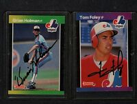 1989 DONRUSS BRIAN HOLMAN-MONTREAL EXPOS  AUTOGRAPHED  CARD-EX.