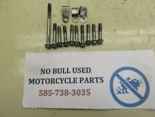 1981 HONDA CB650 MOTOR RIGHT ENGINE CLUTCH BOLTS WITH WIRE CABLE CLAMPS  (SHP)