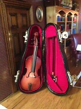 DOLLS HOUSE  Chello In Case  Music Room 12TH SCALE DHE