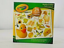 Crayola kids Puzzles World of Yellow 24 Pieces Game Age 3-12
