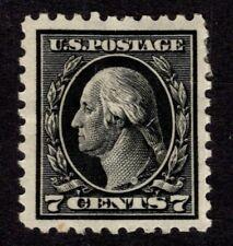 Oas-Cny 8434 Scott 430 – 1914 7c Washington, black, single line watermark Mh $80
