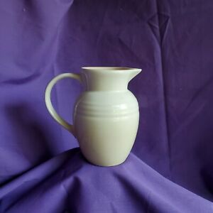 "Le Creuset 0.7L  Small Off-White/ Dune Pitcher 5.75"" Glazed Stoneware"