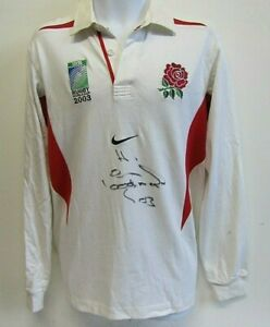 ENGLAND RUGBY WORLD CUP 2003 SIGNED BY SIR CLIVE WOODWARD MENS RUGBY SHIRT