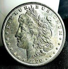 1900 P MORGAN 90% Silver Dollar CHOICE BU Tone Obverse Uncirculated High Grade