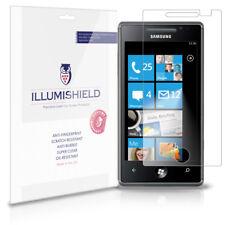 iLLumiShield Phone Screen Protector w Anti-Bubble/Print 3x for Samsung Omnia 7