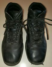 mens BLACK REEBOK SNEAKERS SHOES size 10 medium leather lace up WORK WEAR