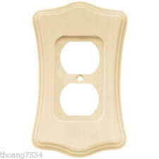 Unfinished Wood Single Duplex Receptacle Outlet Cover Wall plate 1 gang 64637