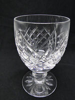 """Waterford Cut Glass """"Donegal"""" Water Goblet Glasses 5 1/4"""" Clear Crystal"""