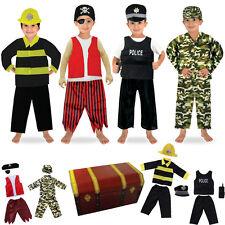 1set/14pcs Boys Role Play Dress up Trunk Costume Set for Children Pretend Play