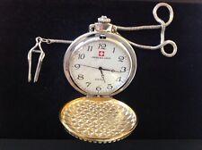 Swiss balance SWISS open front war time red cross larger pocket watch