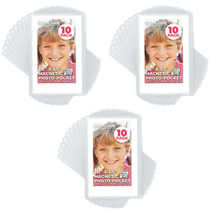 Freez-A-Frame Magnetic Photo Pockets For Fuji Mini Instax Photos  3 - 10 Pack