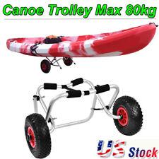 Kayak Canoe Jon Boat Carrier Dolly Trailer Tote Trolley Transport Cart Wheel US