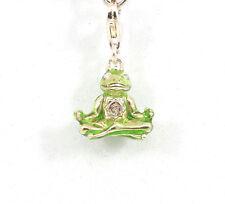 THOMAS SABO Charm Anhänger Silber Zirkonia Frosch grün 1302 - ehem. UVP 69 €