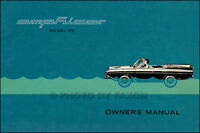 Amphicar Model 770 Owner Manual 1961 1962 1963 1964 1965 1966 1967 Owners Guide