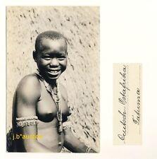 DOA * NACKTE AFRIKANERIN * Vintage 20s Ethnic Nude Photo PC JOSEF STEINLEHNER #1