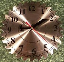 "10"" Steel Circular Saw Blade CLOCK with Second Hand NEW"