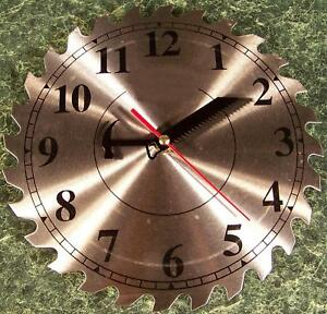 """10"""" Steel Circular Saw Blade CLOCK with Saw and Hammer Hands with Second Hand 3"""