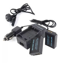 Lp-e17  (2 pack) Battery Power Cable + Car Charger for Canon EOS 750d 760d M3