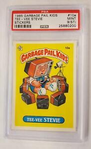 1985 GARBAGE PAIL KIDS TEE - VEE STEVIE STICKERS #10A SERIES 1 PSA 9 MINT