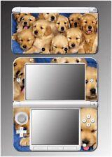 Dog Cute Puppies Golden Retriever Pet Boys Girls Game Skin 9 for Nintendo 3DS XL