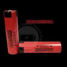 2 Panasonic / Sanyo NCR18650GA 3500mAh/10A Li-ion Flat Top Rechargeable Battery