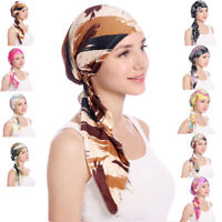 Women's Muslim Hijab Cancer Chemo Hat Turban Cap Cover Hair Loss Head Scarf Wrap