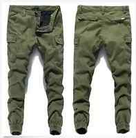 Sz28-40 Chic Mens Casual Cargo Overalls Baggy Relaxed Skinny Pants Trousers New