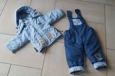 Baby Winter Ski Schnee Anzug, 2-teilig, blau, Gr. 80-86, NEUWERTIG