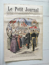 PETIT JOURNAL 1908 PRESIDENT FALLIERES A DUNKERQUE BAZENNES / APACHE POLICE